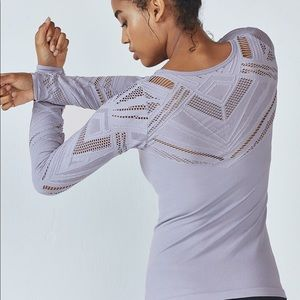 Fabletics Isabella Seamless Long-Sleeve Top size S